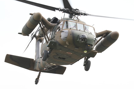 UH-60JA飛行展示その3