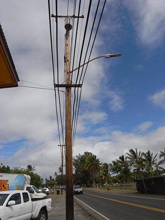 電柱と空 Surf-n-Seaの前