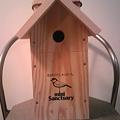 写真: 交換する新しい四十雀の巣箱...