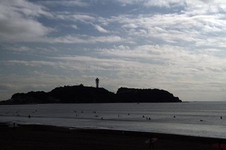西浜から見た江ノ島
