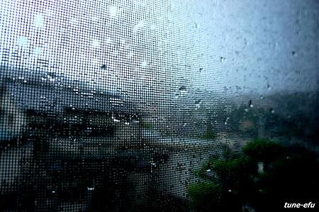 雨の朝だった