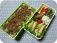 11.02 豚そぼろ牛蒡混ぜご飯のお弁当(長男)018