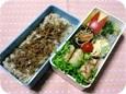 11.02豚そぼろ牛蒡混ぜご飯のお弁当(長女)007