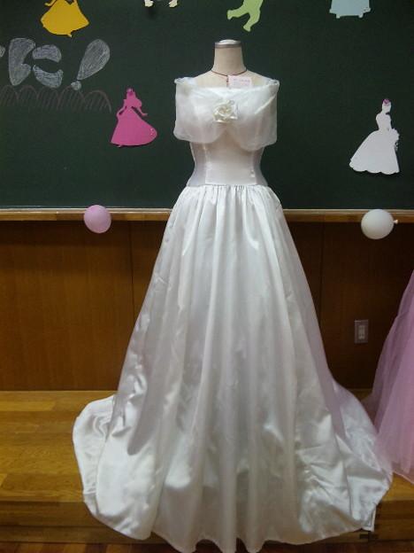 文化祭で作ったウエディングドレス