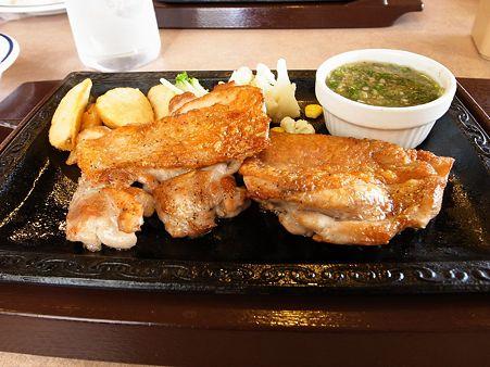 松阪市船江町:「ステーキガスト松阪店/ねぎ塩チキンステーキ」