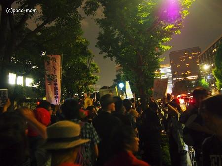 2014/07/01集団的自衛権行使閣議決定・国会議事堂前012