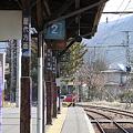 長野電鉄 屋代線 松代駅 ホームより須坂方面を望む