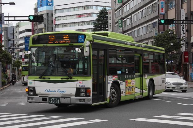 国際興業バス いすゞ・エルガ 5202号車