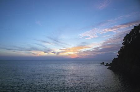 日本海、日没後