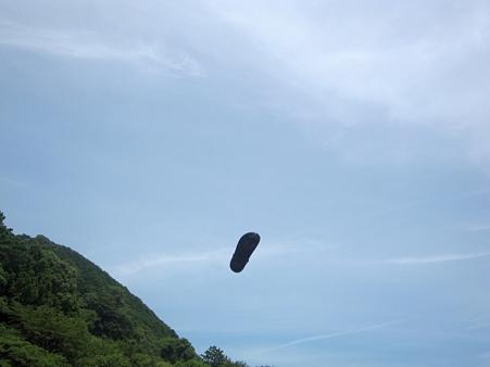 飛翔するサンダル氏