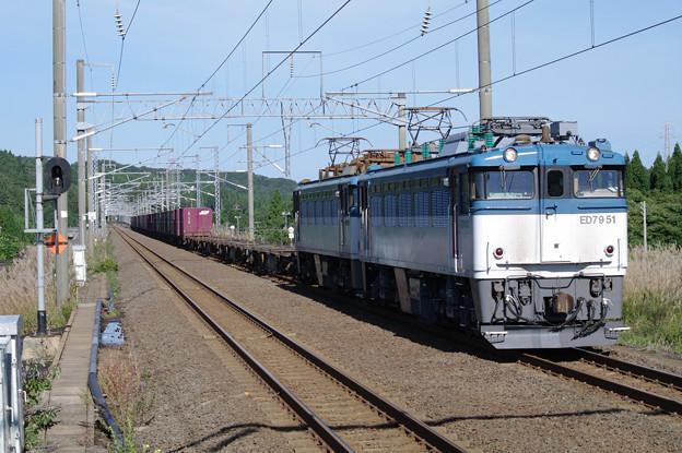 s9134_海峡線上り貨物列車_ED7951+コキ_津軽今別
