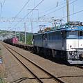 Photos: s9134_海峡線上り貨物列車_ED7951+コキ_津軽今別