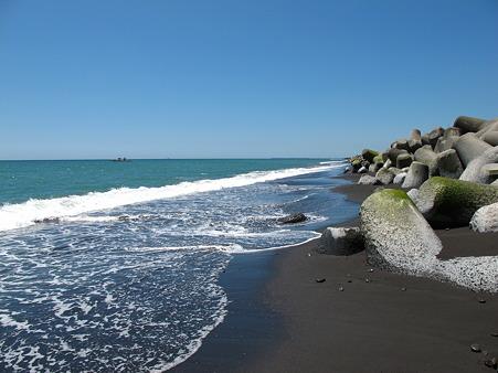 今日は海まで走ってきた