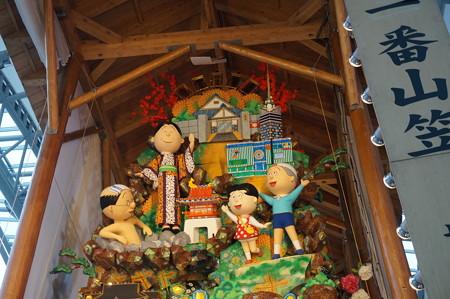 11 2014年 博多祇園山笠 博多駅の飾り山笠 サザエさん (8)