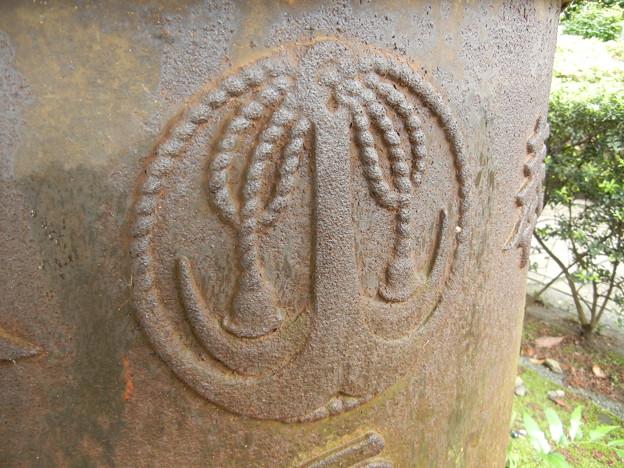 綱付き錨-水鉢の神紋-水天宮平沼神社 (横浜市西区平沼)