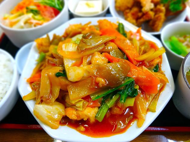 てんしん中華店 日替ランチ 鶏とザーサイの炒め定食 広島市南区的場町 Tianjin