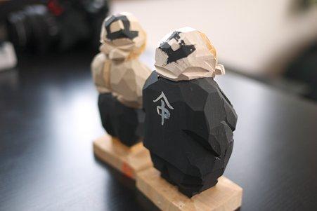 2011.05.09 箱根宮ノ下 木端人形(大工とおばさん)-背中 松澤登美雄