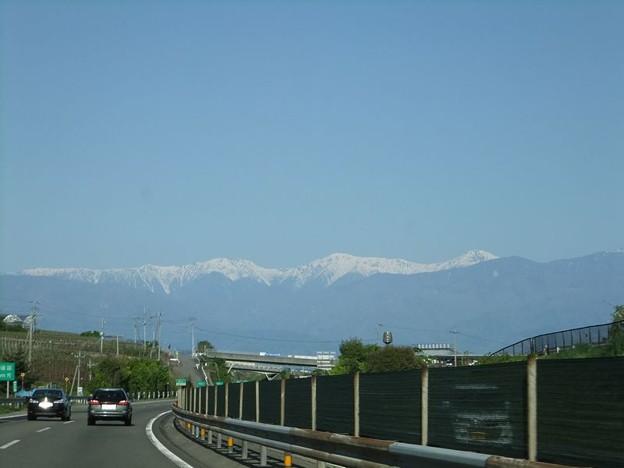 前方に雪山2-1