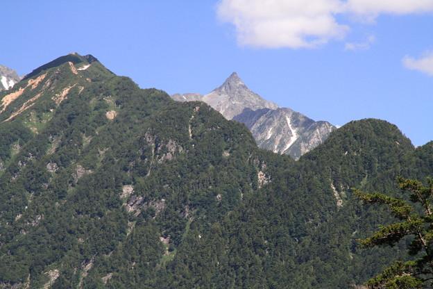 写真: 100721-65蝶ヶ岳登山・槍見台からの槍ヶ岳