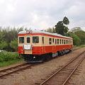 DMU Kiha 52 / in Isumi Railway with the vintage head-mark.