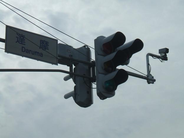 達摩 - 交差点名の標識