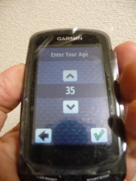 GARMIN Edge800 デフォルト値年齢