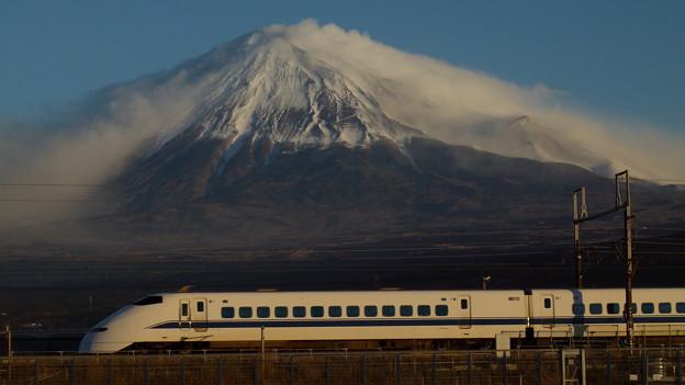 富士山と300系