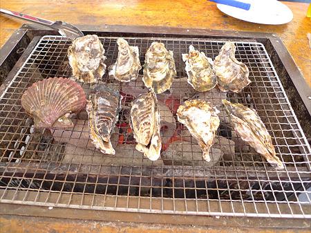岐志漁港のカキ小屋(2)