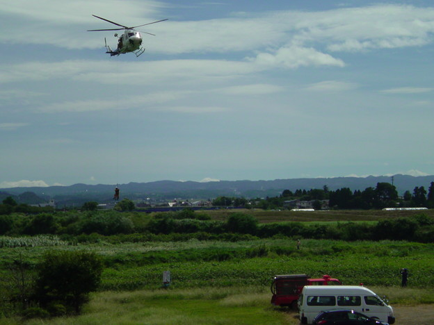 Photos: ヘリで要救助者救助!喜多方...