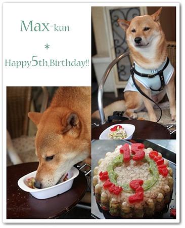 マックス、おめでとう