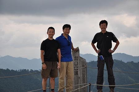 剣山山頂での記念撮影