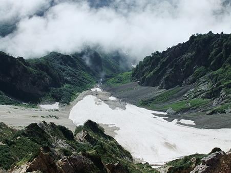 雪渓と雲海
