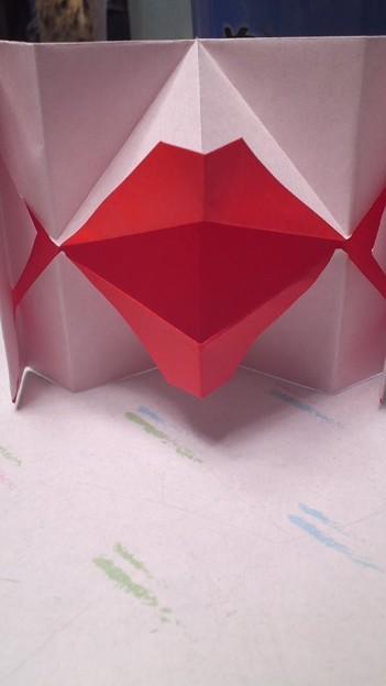クリスマス 折り紙 折り紙 ぱくぱく : photozou.jp